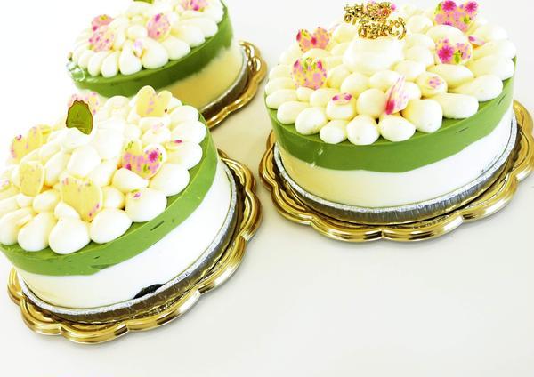 抹茶とマスカルポーネのムースケーキ♪