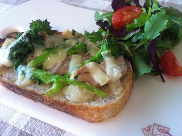 2月のタルティーヌ 自家製ツナと春野菜のタルティーヌ