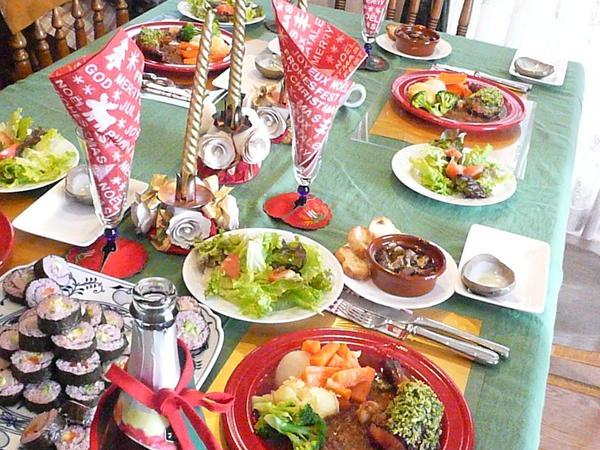 クリスマス料理のレッスン風景