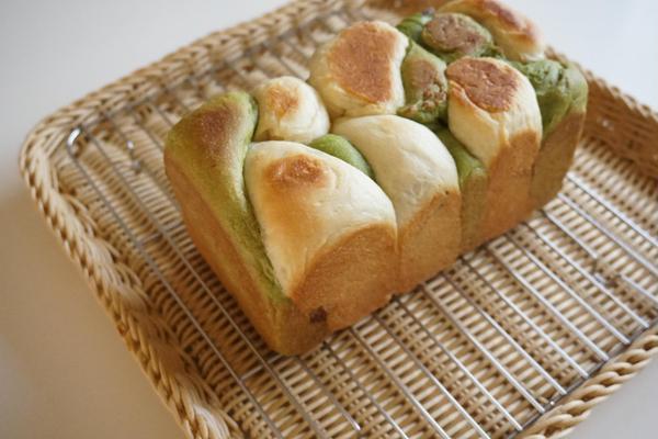 5.14「抹茶あん食パン」Sさんの作品。