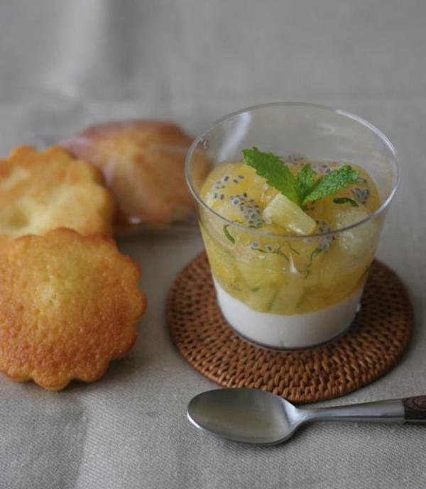 8月のお菓子レッスンは、冷たいお菓子とマドレーヌです。