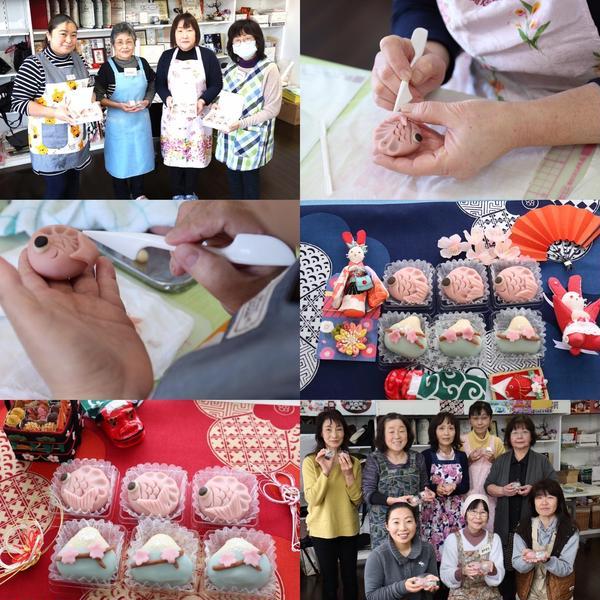 和菓子のKawaiiアート練り切り!生徒さんの作品です。
