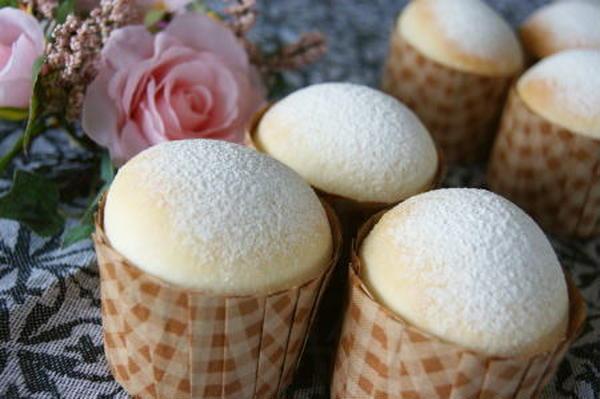 白いクリームパン♪