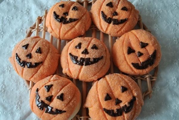 10月のメニュー【ジャック・オ・ランタンのパン】