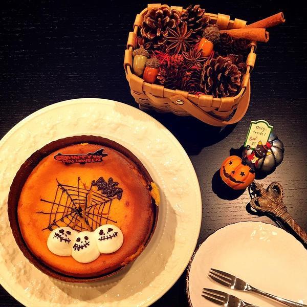 パンプキンキャラメルチーズケーキ(ハロウィンレッスン)