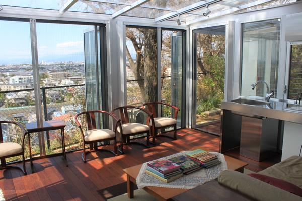 9月に完成した、眺めが最高のテラスです!