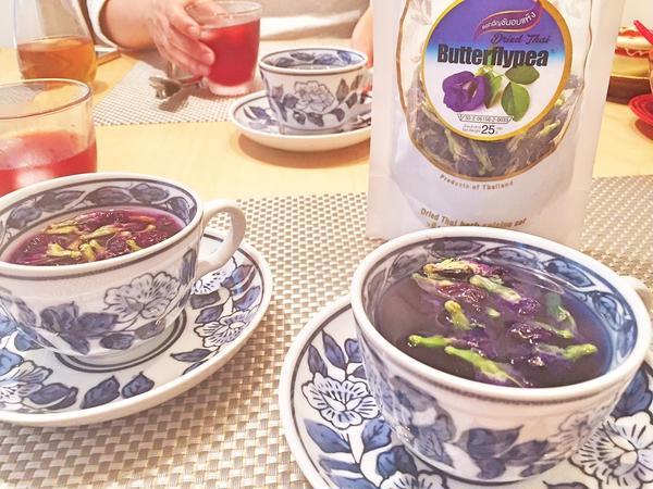 食後は、お茶でまったりと女子トーク♪