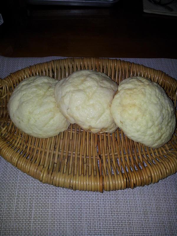 ふわふわのメロンパンです。