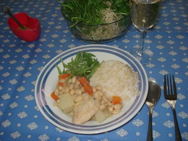 家庭料理フレンチ  鶏のカスレ風