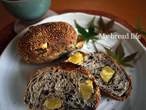 11月酵母のお教室は大好き!胡麻ごまさつま芋パンですよん♪