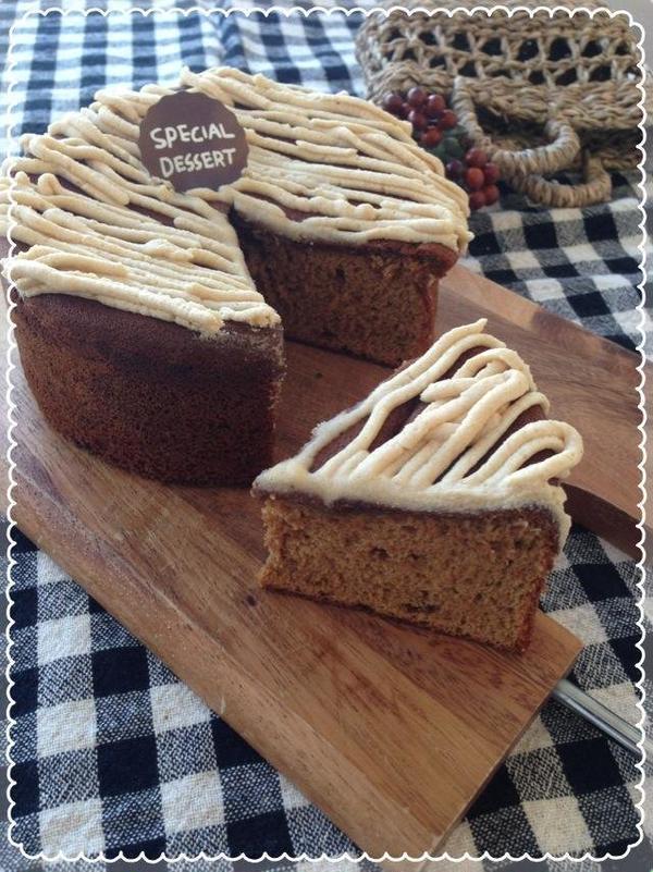 黒糖と道産きなこスプレッドケーキ