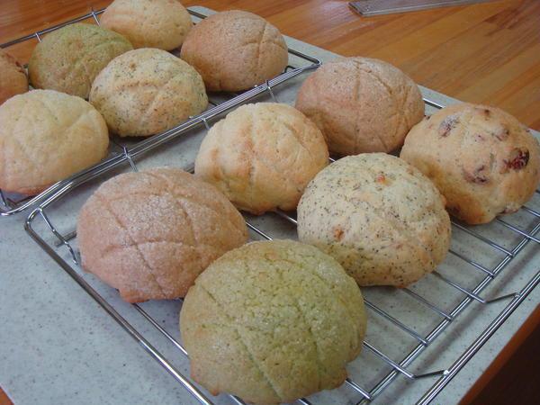 5種類のメロンパンレッスンです