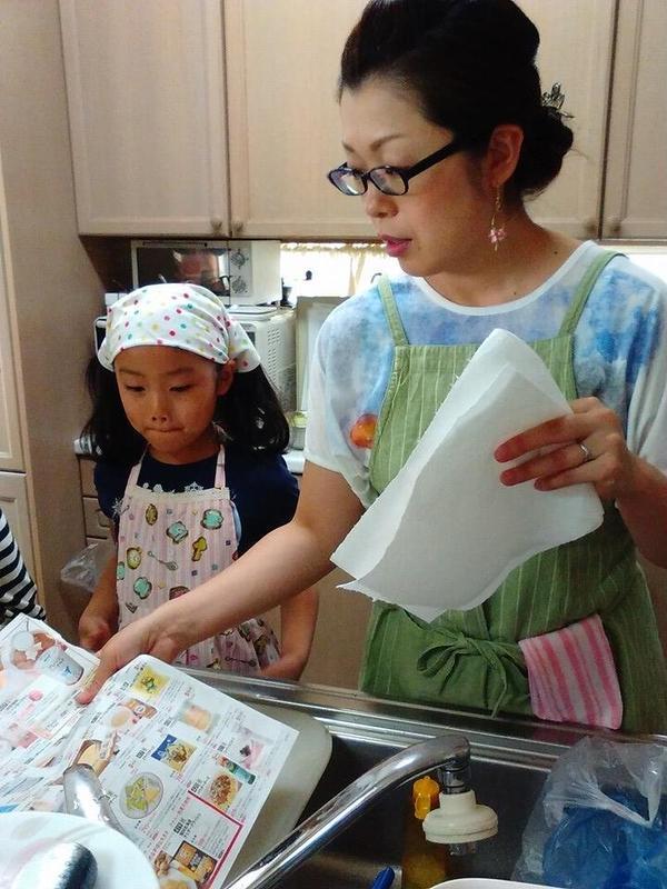 キッズクラス 親子料理の会にて