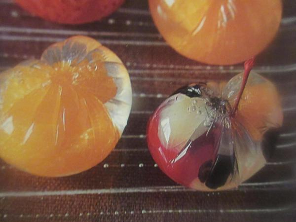 7月の和菓子はフルーツの錦玉寄せです