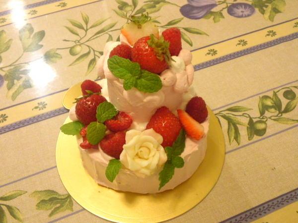 プレゼントのケーキレッスン