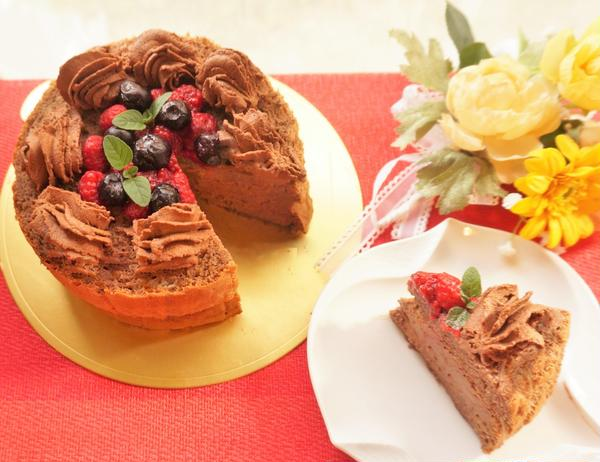 11月糖質90%オフ!チョコレートケーキ