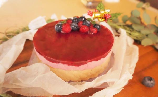 12月クリスマス体験レッスン「フランボアーズのムースケーキ」