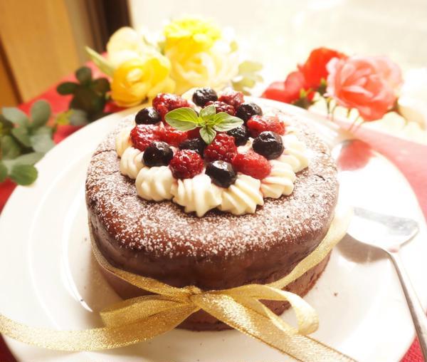 黒糖のガトーショコラ