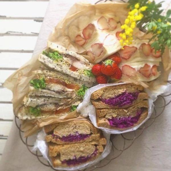 旅パンNew 日本:角食パンサンドイッチ