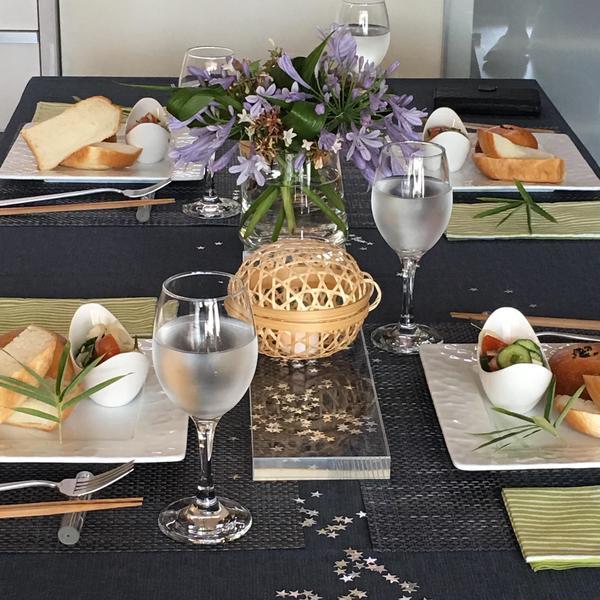 七夕の季節はパンで和風のコーディネート。