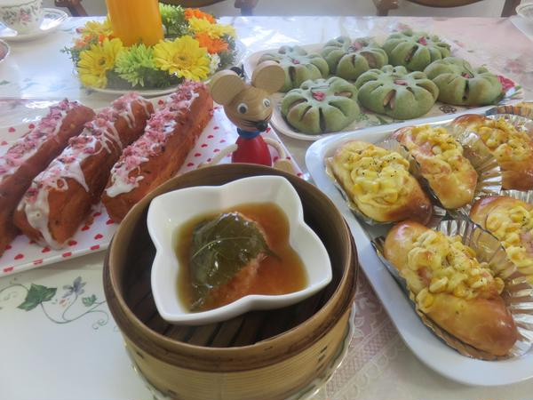 春レッスン、おまけのお惣菜も季節感のあるものを!