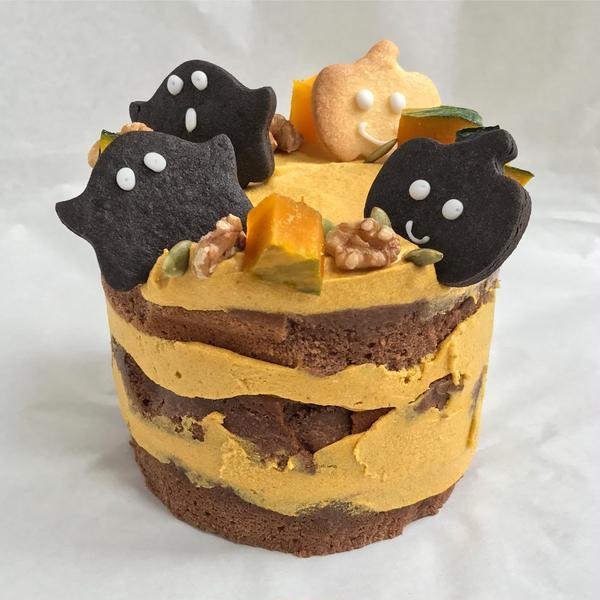ハロウィンネイキッドケーキ。NY風アメリカンベーキング♪