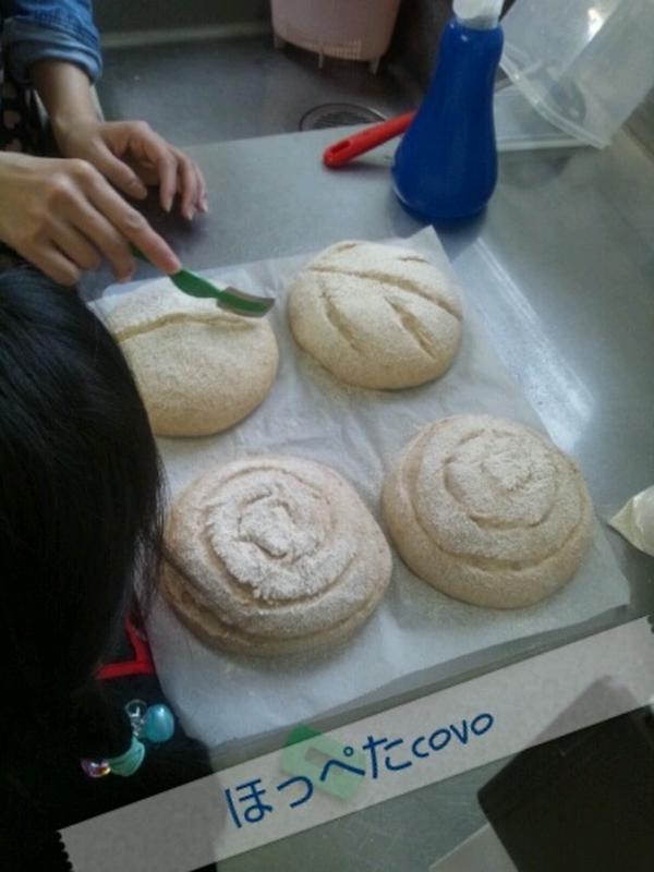 初めての自家製酵母パン クープ入れも初めて