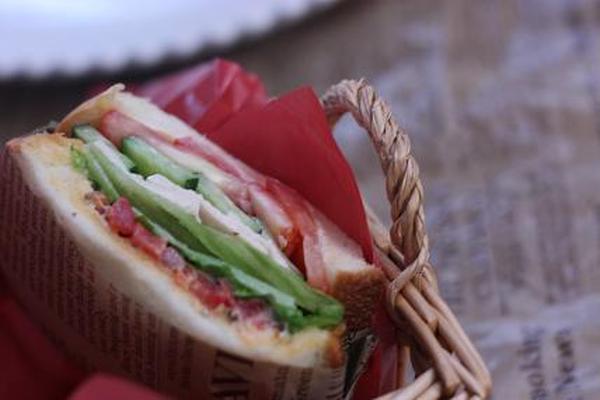 ピクルスのサンドイッチ