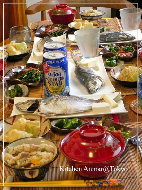 2012年7月の試食テーブル風景です。