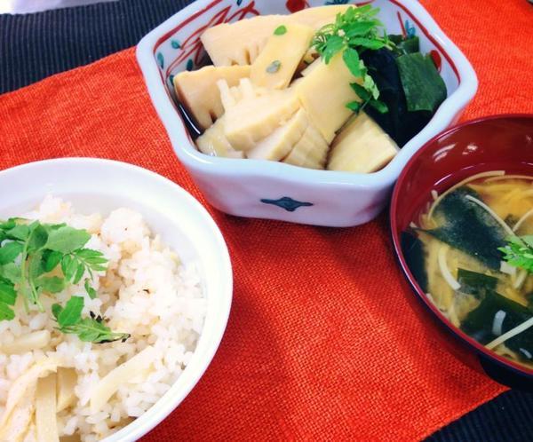 若竹煮 たけのこごはん たけのこの味噌汁