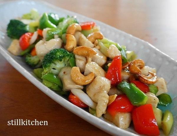 鶏肉とブロッコリーの中華風炒め