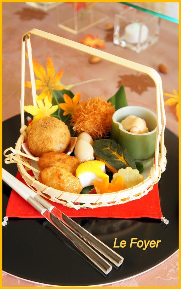 秋の花籠おべんとう