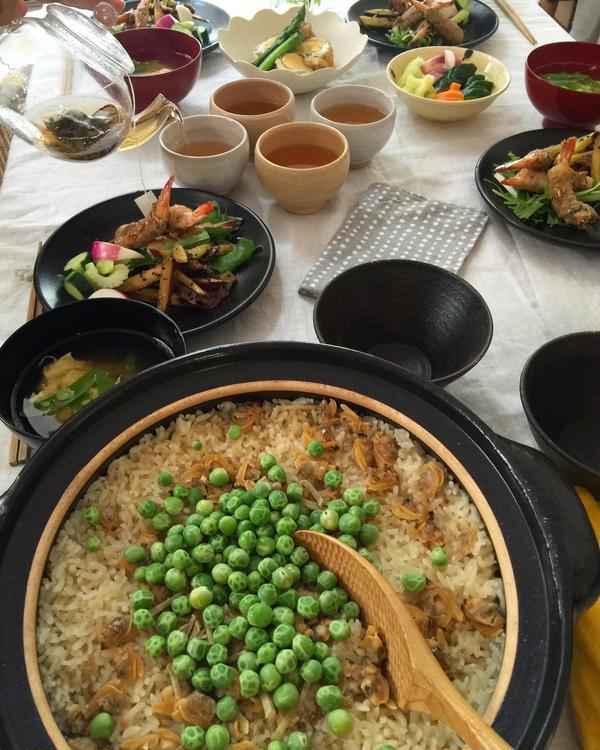 春の家庭料理教室 土鍋御飯と季節野菜のおかずレッスン