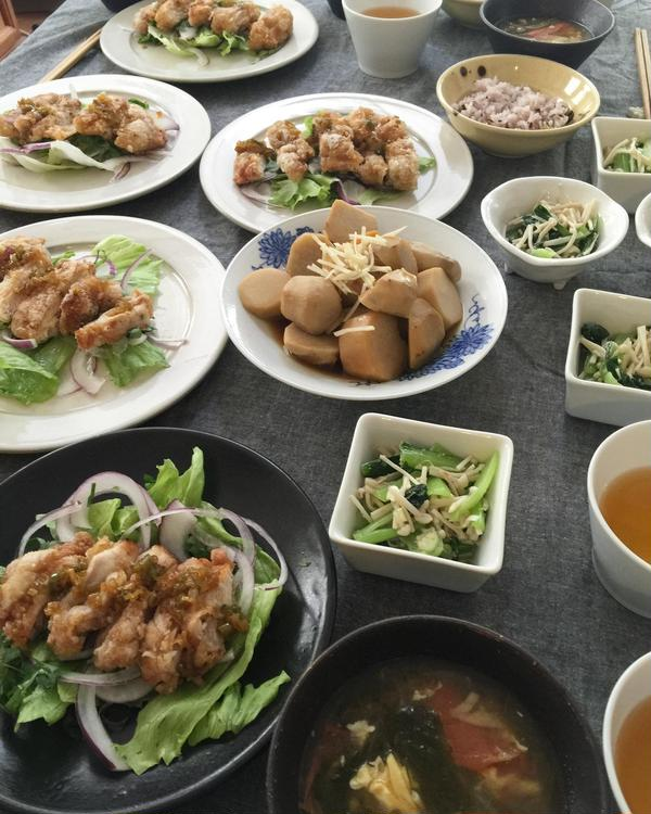 秋の家庭料理教室 湯淋鶏レッスン