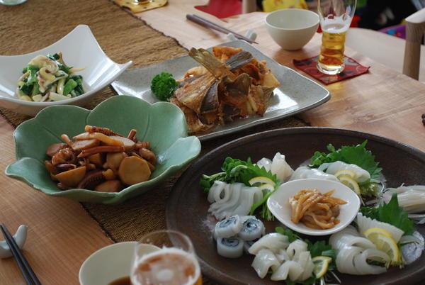 お魚マスターコース。 お造り、煮物、ぬた、唐揚げに。