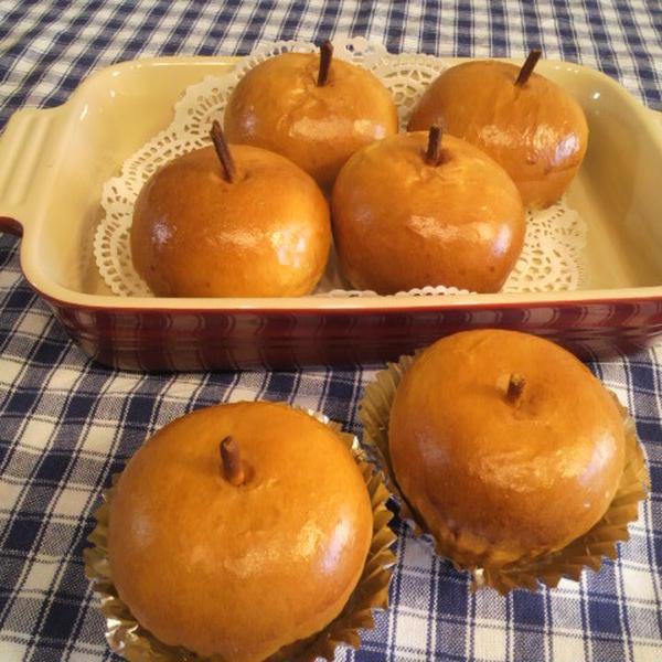 りんごパン・・中は林檎とカスタード(パン1Dayレッスン)