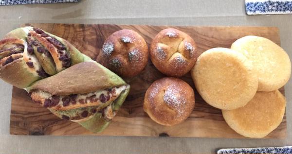 抹茶と餡のツイスト にんじんパン