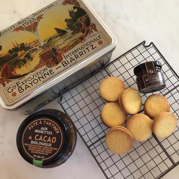 4−5月オンラインお菓子レッスンで作ったクッキーサンドです。
