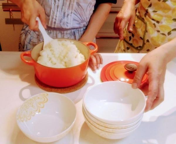 ルクルーゼで炊く新タマネギご飯
