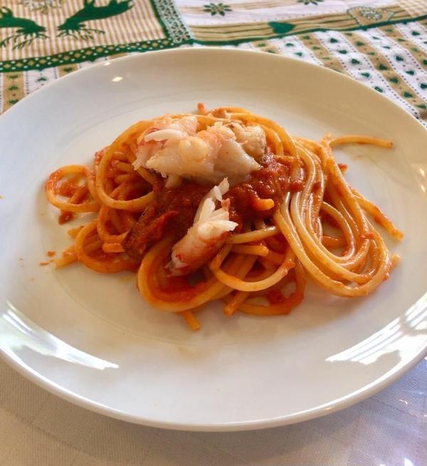 海老のトマトクリームパスタ