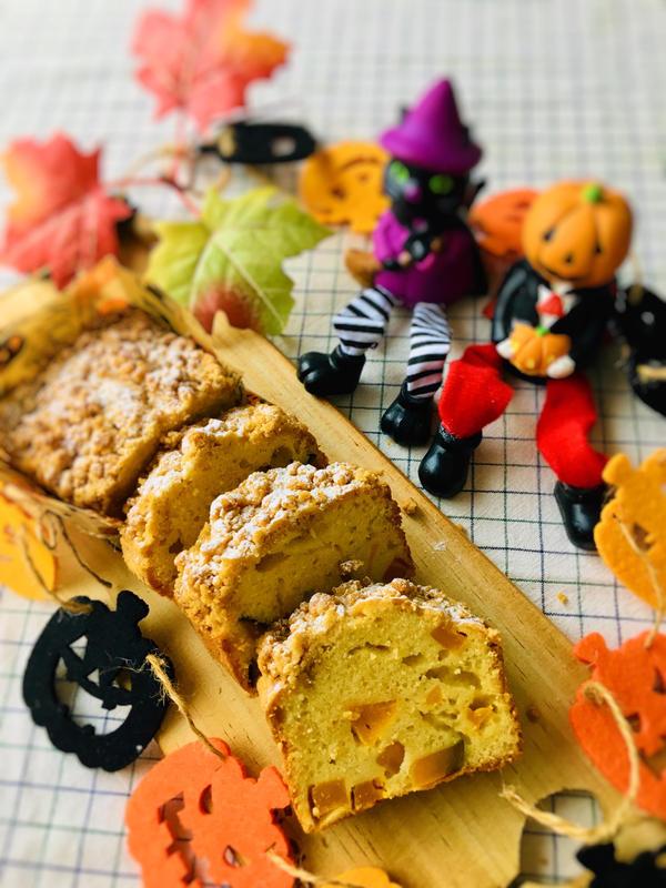 かぼちゃのクランブルパウンドケーキ