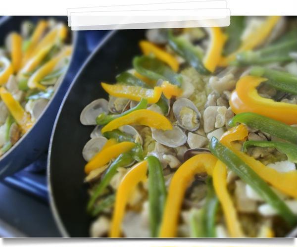 フライパンで作る雑穀パエリア