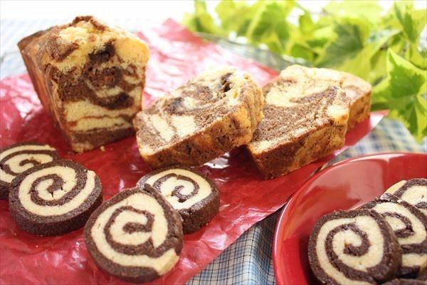 マーブルパウンド&うずまきクッキー