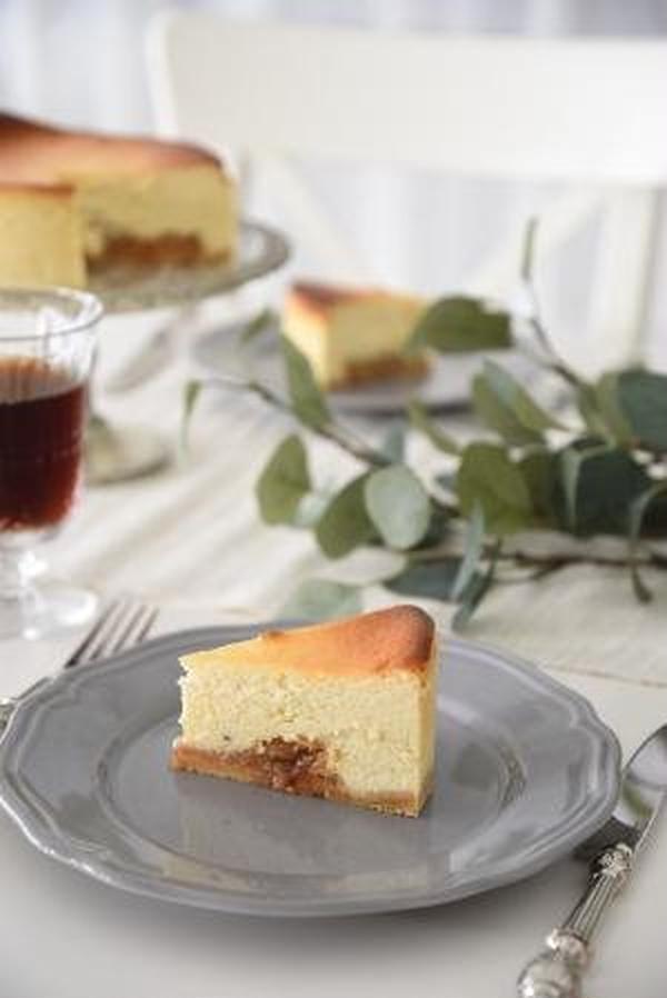 11月キャラメルりんごのチーズケーキ