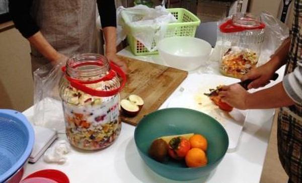 上級麹士取得講座 米麹を使った「フルーツ酵素造り」