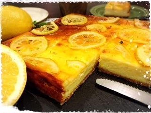 レモン丸ごと1個使用♡レモンチーズケーキ7.8月限定