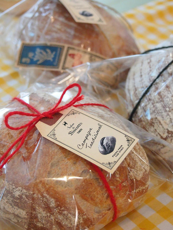 焼き上げたパンは、可愛くラッピングしてお持ちかえり。