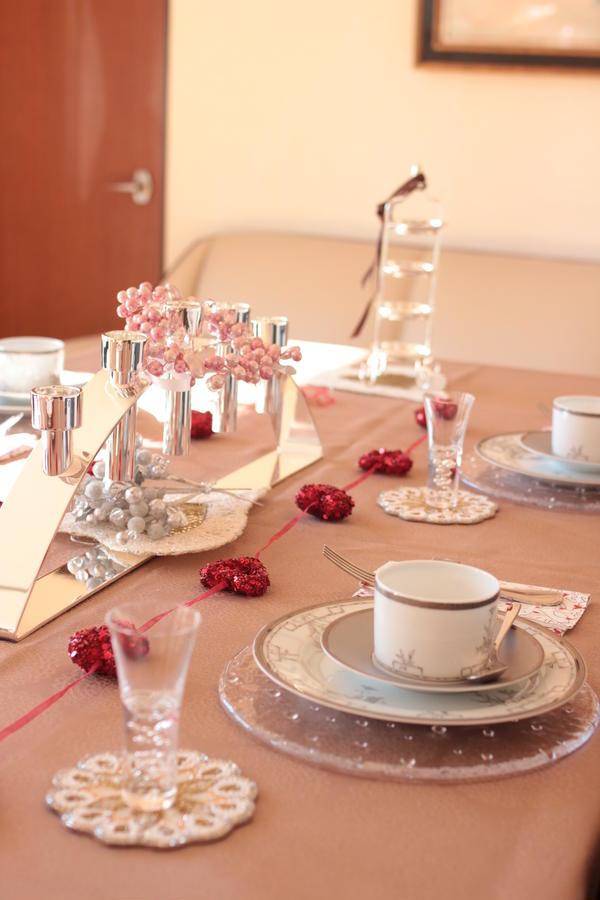 2014年バレンタインレッスンのテーブルです。