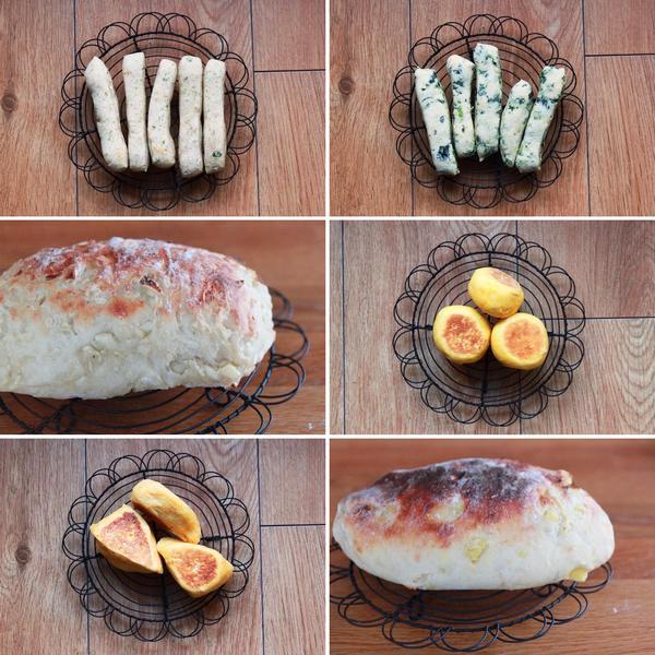 ベジフルパン (野菜と果物のパン)
