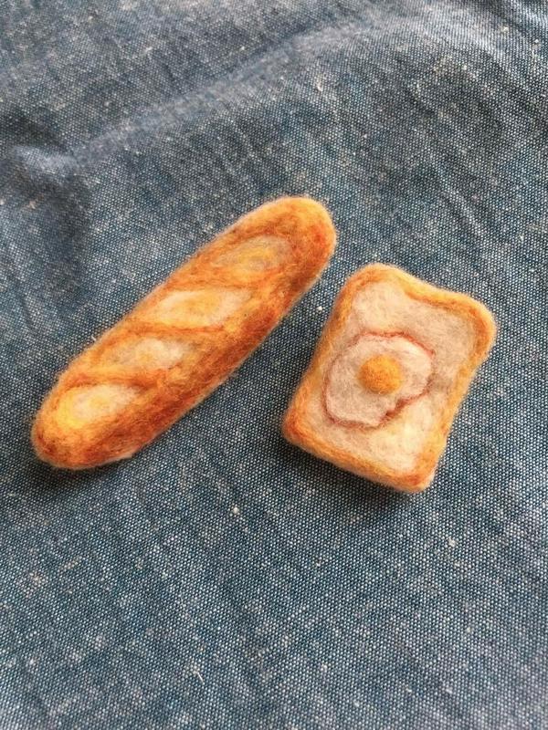たまには可愛いハンドメイドのパンで息抜き^^